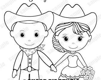Coloring book wedding | Etsy