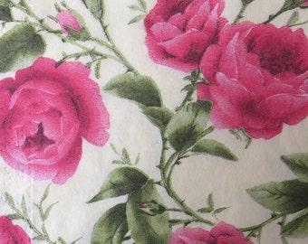 4 Decoupage Napkins Roses Paper Napkins