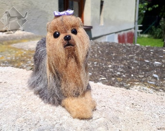 Yorkshire Terrier - needle felted sculpture