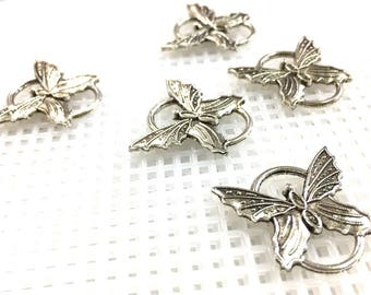 Silver Tone Butterfly Connetor / For Bracelet_Pack of 16 pcs
