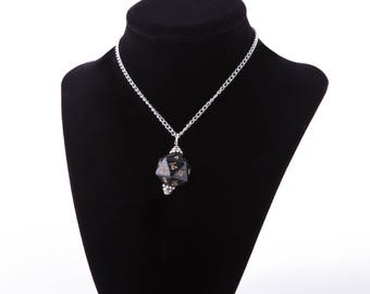 Black D20 Necklace