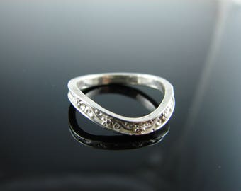 6045 Ring Band Setting Sterling Silver Size 6.5