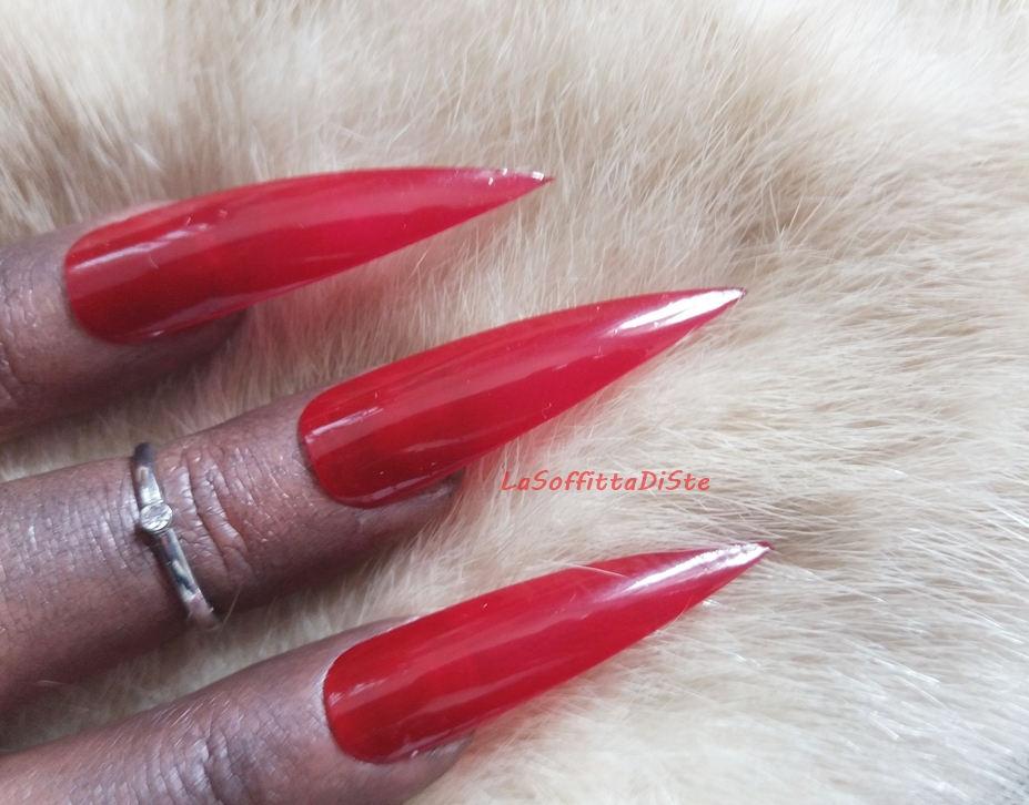 red medium long stiletto nails costume vampire halloween wag drag ...
