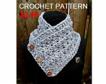 pdf instant download pattern, Crochet Chunky Cowl Scarf,  Halifax Harbor Cowl Scarf, Crochet Scarves For Women, #881, Harbour Cowl