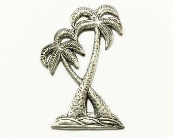 Metal Palm Tree Embellishment (12 pcs)