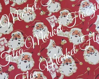 Gift Wrap-Wrapping Paper-Christmas-Children-Retro Santa-Retro-Mid Century