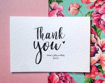 Personalisierte Hochzeit danken Ihnen Karten