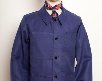 French Blue indigo Work Jacket 70's