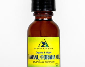1 oz TAMANU / FORAHA OIL Organic Cold Pressed Fresh Pure with Glass Dropper