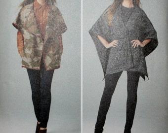 Simplicity 1281 Misses Jackets, Cape, Capelet Sewing Pattern New/Uncut  Size: XS-S-M-L-XL