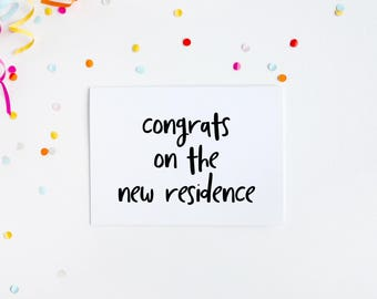 Funny New Home Card, Congrats New Residence, House Warming Card, Congratulations New House, New Home Greeting, Moving House Card, New Home