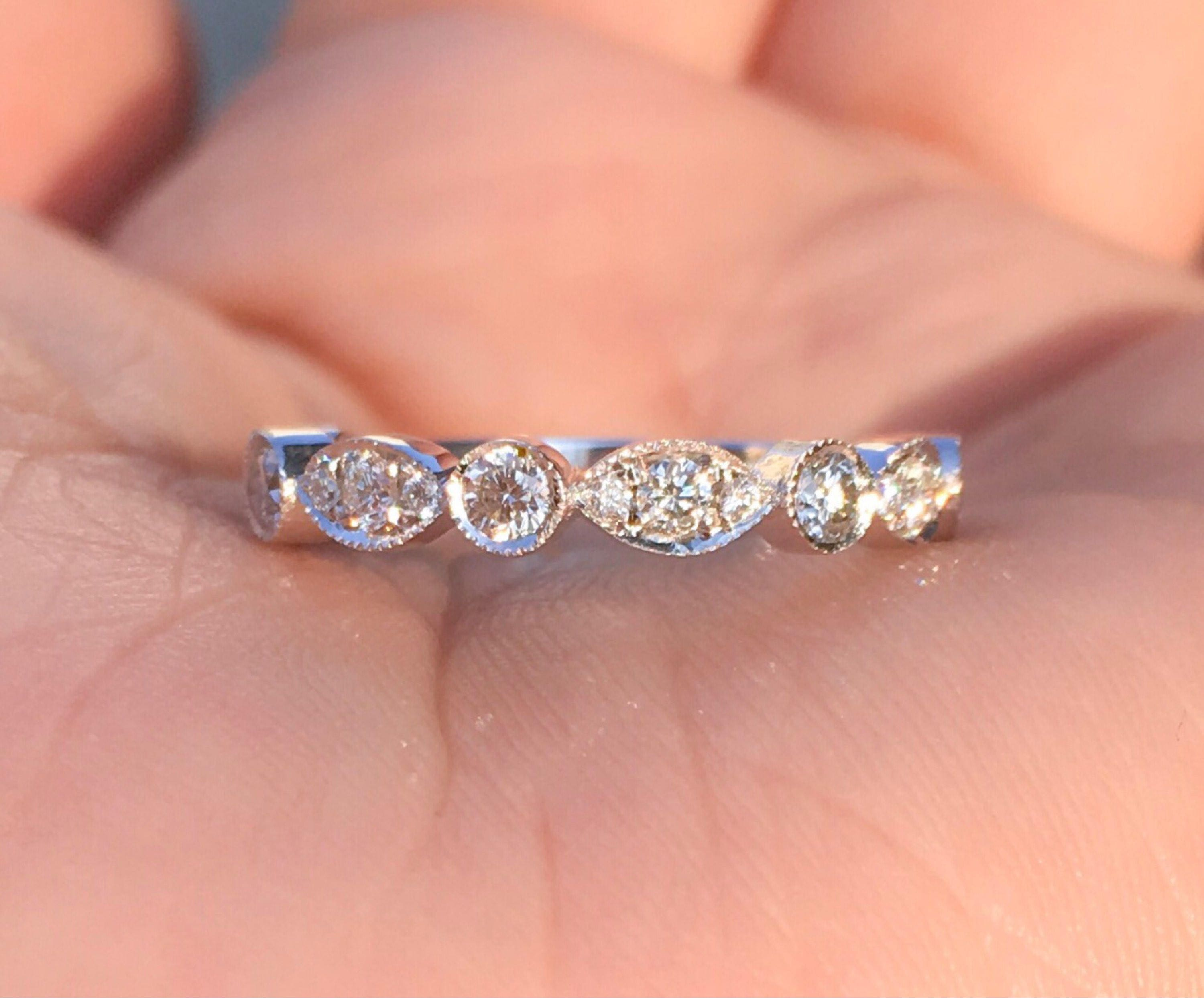 platinum gia certified carat centered engagement vintage in made diamond and a with ring pin deco art