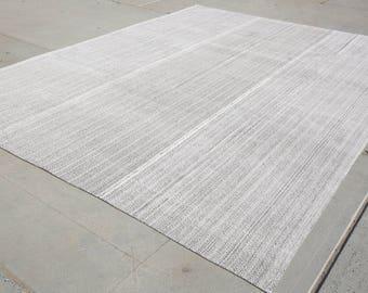 White Black Kilim Rug,10'3''x13'2''Feet,White Rug,Flatweave Rug,Kilim Rug,403x315,Vintage Rug,Oversized White Rug,Large Kilim Rug,Kilim,1378