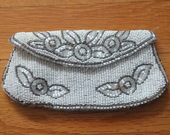 Vintage Roaring '20's Flapper Small Beaded Bag/pouch/wallet