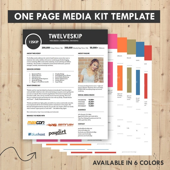 Media kit press kit templates easy to edit clean high for Dj press kit template free
