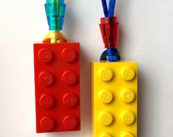 Lot of 10 Brick Necklaces Party using LEGO® product