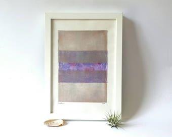 Abstrakte Monoprint Monotypie drucken, minimalistisches Design, original-Artworks, geometrische Muster, moderne Kunst, zeitgenössische Kunst, Druck Kunst