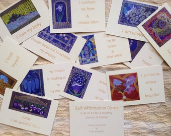 Self - Affirmation Cards - Set of 12