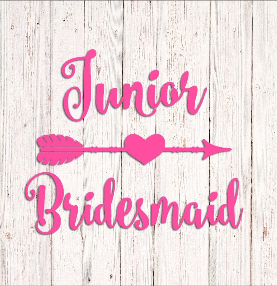 Junior Bridesmaid Decal Custom Vinyl Sticker DIY Wedding