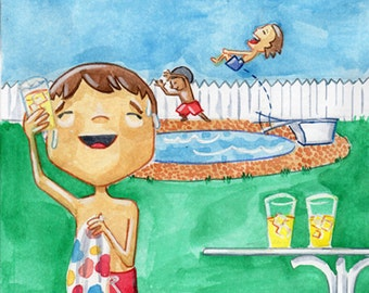 Summer Refreshment - 8x10 Illustration Print