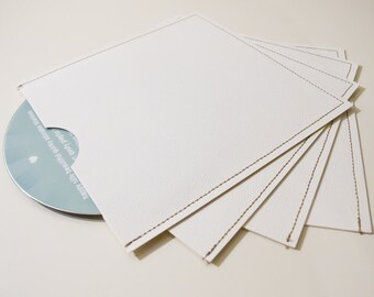 DVD Cases / Sleeves - Set of 10 white DVD sleeves