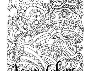 Explosion of Joy, 1 Adult Coloring Book Page, Printable Instant Download