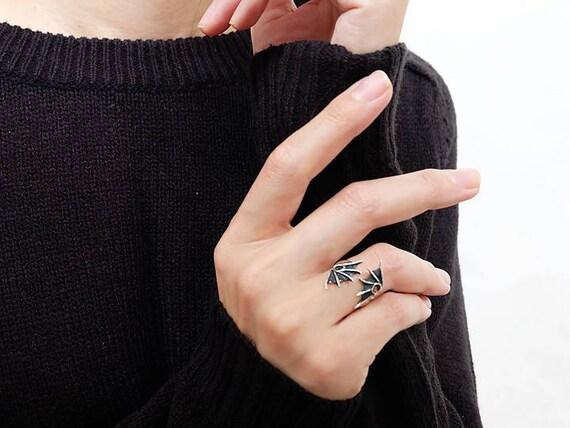 Drachen-Flügel-Ringe handgefertigte Ringe Drachen Schmuck