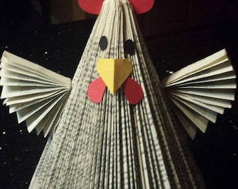 Repurposed book art - Chicken / Rooster