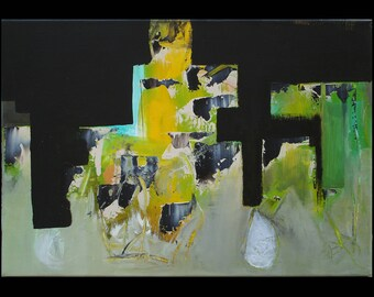 """abstract art, contemporary, acrylic painting """"Attractive"""""""