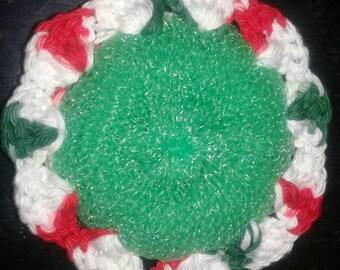 dish scrubby - crochet flower