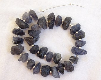 Iolite  Rough Nuggets,  Raw Iolite Beads , Iolite Drilled Rough Gemstone (RSG 5)