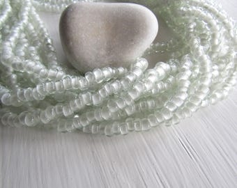 clear rondelle Glass beads, small transparent  glossy  , disc Spacer washer, Indonesian  7 to 8mm dia ( 10 inches ) 7ab28-6
