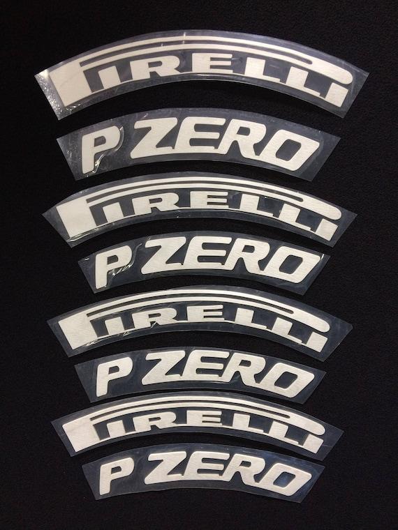 Permanent Tire Letters Sticker 1 Pirelli P Zero White
