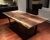 Live Edge Black Walnut Di...