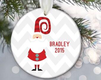 Personalized Santa Ornament, Personalized Christmas Ornament, Baby Ornament, Kids ornament, Custom Santa Claus Ornament Santa Gift OR744