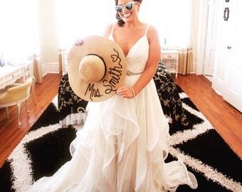 """Custom Sequin """"Mrs."""" Floppy Hat"""