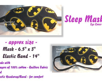 SLEEP MASK eye cover  -- BATMAN super hero -- will help you fall asleep / travel mask sleeping eye cover