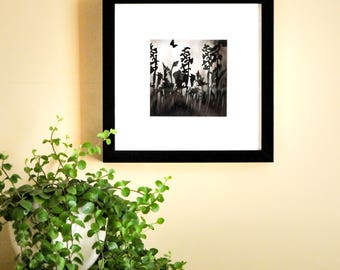 Framed Paper Cut Meadow Picture.