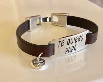 Daddy bracelet, papa leather bracelet, bracelet leather father
