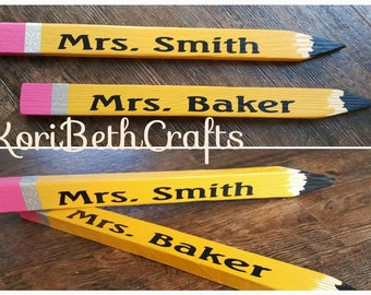 "Teachers gift ""pencil"" decoration"