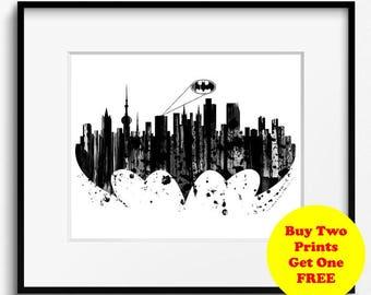 oklahoma city skyline watercolor art print 739 oklahoma city