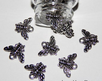 Bumble Bee Pewter Charms For Jewelry Making - 20