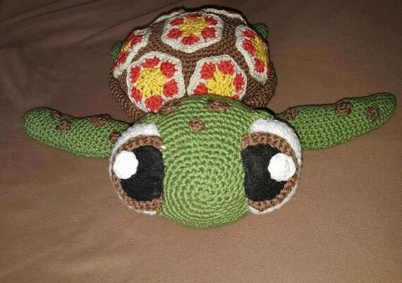 Amigurumi Turtle : Crochet squirt finding nemo amigurumi squirt