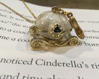 Cinderella's Pumpkin Coach - Fairy Tale Necklace