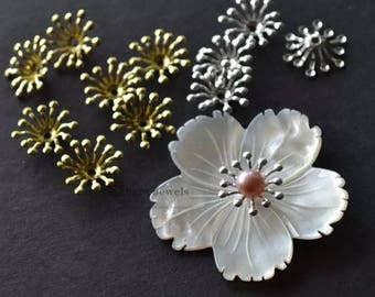 100pcs Brass Stamen charm, 5 colors Stamen Pendant, 13mm Stamen beads for Flower.
