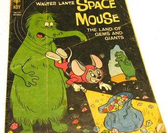 1963 Vintage Space Mouse Comic by Walter Lantz