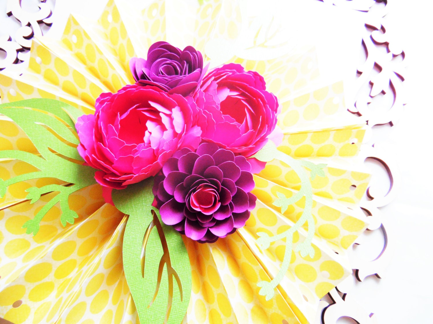 Unique Hanging Paper Flowers Diy Embellishment Wedding And Flowers