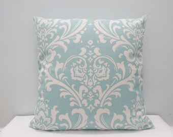 Damask / Ozborne Village Blue / Natural Throw Pillow Cover / pillowCase /kidney /sham, TossPillow / Lumbar different sizes available
