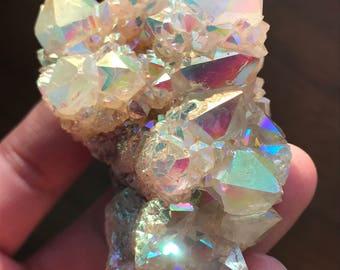 Spirit Quartz Crystal Cluster Angel Aura Spirit Quartz Crystals Rainbow Aura Quartz Spirit Aura Crystal Rainbow Quartz Aura Crystal A2