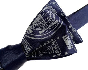 Apollo Cockpit bow tie. NASA declassified control panel mens self-tie bow tie - gift for space and aviation fans, astronauts, engineers
